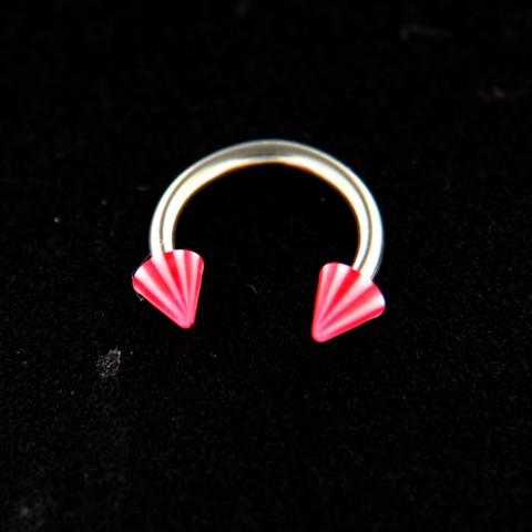 Strieborný piercing 14434