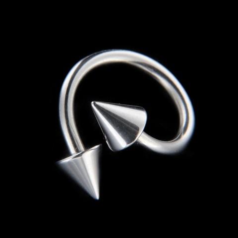 Strieborný piercing 15642