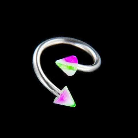 Strieborný piercing 15729